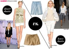 short shorts vs. bermudas - hint: know your best body bits, then choose...