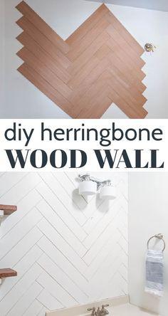 Herringbone Wall, Plank Walls, Ship Lap Walls, Diy Home Improvement, Diy Wall, Wood Wall, Wall Design, Wall Ideas, Diy Ideas