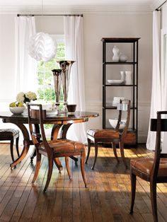 COURBIN ETAGERE Round Table And Chairs Dining Chairs Dining Rooms Dining Table