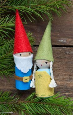 Whimsical Felt Gnomes