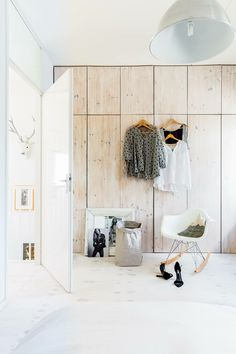 Wood closet. #bedroom #closet