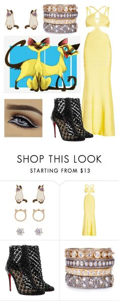 """""""The Lady and the Tramp - The evil Twins 🐈"""" by samochka89 ❤ liked on Polyvore featuring Loren Olivia, Hervé Léger and Christian Louboutin"""