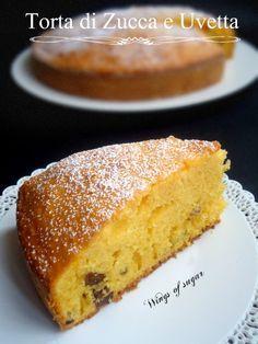 torta di zucca e uvetta- wings of sugar blog
