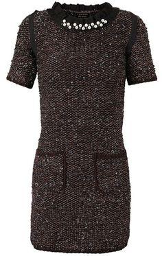 LANVIN Textured Stretch Knit Dress
