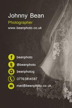 Beanphoto Business Card / www.beanphoto.co.uk / facebook.com/beanphoto / twitter.com/beanphoto / instagram.com/beanphotog
