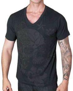 Rebel Spirit Giant Skull T-Shirt (Black)