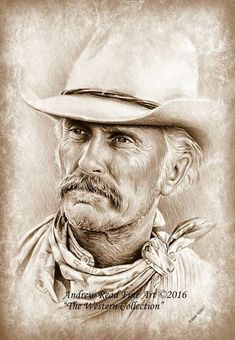 Robert Duvall The Western Collection by Andrew Read Robert Duvall Zeichnung - Robert Duvall The Western Collection von Andrew Read Robert Duvall, Real Cowboys, Cowboys And Indians, Western Art, Western Cowboy, Westerns, Lonesome Dove, Cowboy Pictures, Celebrity Drawings