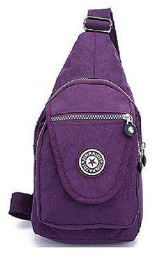 ed03ebf2ab Amazon.com   iSuperb Hiking Daypacks Multi-functional Canvas Outdoor  4-Zipper Chest Bag Shoulder Bag Sling Cross Body Bag Messenger Bag with  Adjustable ...