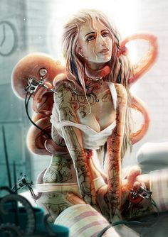 The Art Of Animation, Benjamin Schulz Dark Fantasy Art, Fantasy Kunst, Fantasy Girl, Fantasy Artwork, Dark Art, Arte Sci Fi, Sci Fi Art, Arte Horror, Horror Art