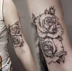 line rose tattoo - Google zoeken