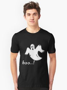 Are You Scared, Boo Ghost, Tshirt Colors, Wardrobe Staples, Chiffon Tops, Female Models, Classic T Shirts, Shirt Designs, Tees