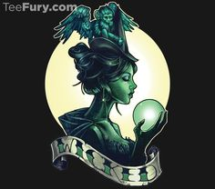 """""""Wicked"""" by Tim Shumate. The Wizard of Oz's Wicked Witch of the West with her crystal ball and flying monkey. Wizard Tattoo, Witch Tattoo, Wizard Of Oz Movie, Wicked Tattoos, Wicked Musical Tattoo, Witch Art, Wicked Witch, Fasion, Fantasy Art"""