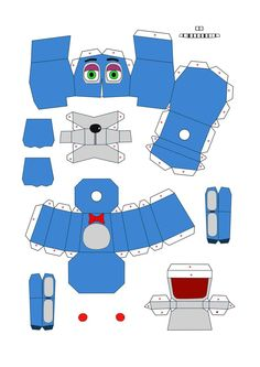 five nights at freddy's 2 Toybonnie papercraft pt1 by Adogopaper on DeviantArt