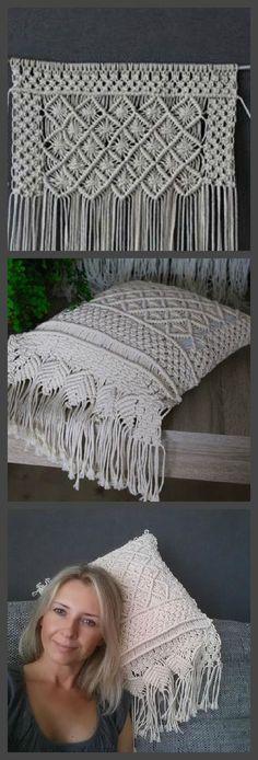 Boho Macrame pillow