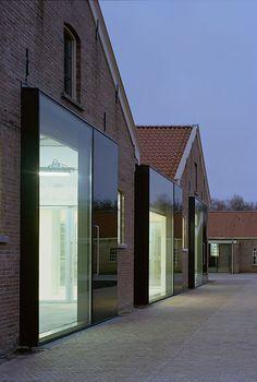 "modern interpretation of old red bricks building - ""Google"" paieška"