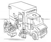 print lego police helicopter city coloring pages - Lego City Coloring Pages
