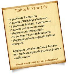 Traitement du psoriasis avec les huiles essentielles