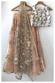 The Peach Project The Peach Shoreline Lehenga Set The post The Peach Project appeared first on ThealiceOnline. Indian Lehenga, Indian Gowns, Indian Attire, Indian Party Wear, Indian Wedding Outfits, Indian Outfits, Indian Wear, Ethnic Outfits, Lehenga Designs