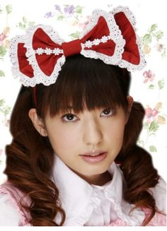 $13.99  Sweet Red And White Cotton Lolita Headband With Lace Trim