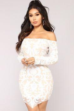 Throw Shine Not Shade Sequin Dress - White – Fashion Nova White Sequin Dress, Long Sequin Dress, Lace Dress, Cheap Prom Dresses, Sexy Dresses, Nice Dresses, Simple Prom Dress, Classy Dress, Hijab Fashion Summer