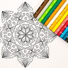 Printable Mandala Coloring Page: A digital coloring page for adults perfect for stress relief, relaxing and meditation.  INSTANT DOWNLOAD