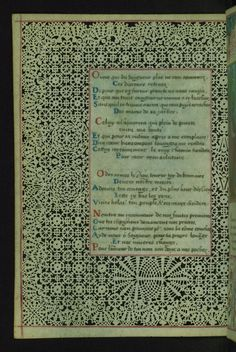 W.494, LACE BOOK OF MARIE DE' MEDICI 43v