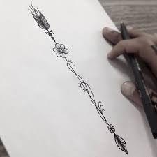 Resultado de imagem para tattoos de flecha delicada
