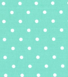 Quilter's Showcase Cotton Fabric-Dots Ice Green/White