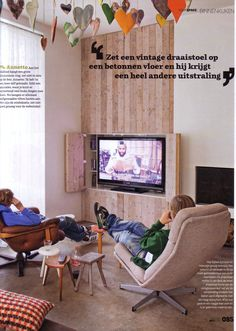 TV in a wooden wall but a little different in our house...like the idea!