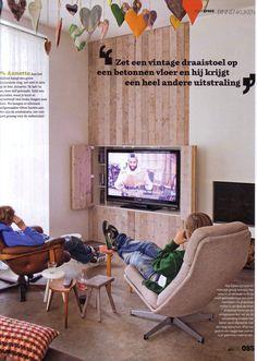 Leuke oplossing om tv weg te werken