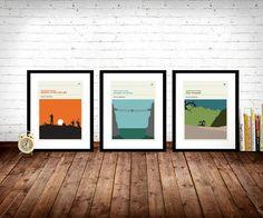 Indiana Jones Movie Posters - Set of Prints, Movie Prints, Film Poster, Indiana Jones Poster, Retro Poster