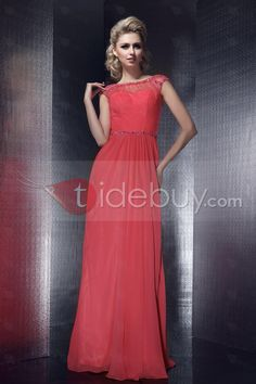 Charming A-Line Jewel Neck Floor-Length Dasha's Evening Dress