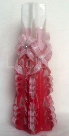Řezaná svíce 30cm červená Voss Bottle, Water Bottle, Horn, Water Flask, Horns