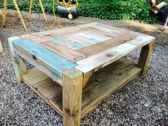 Reclaimed  Wood Coffee Table by ReclaimItbyChristian on Etsy https://www.etsy.com/listing/234108655/reclaimed-wood-coffee-table