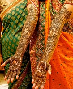 Mehendi for indian bride, dulhan and dulha bride