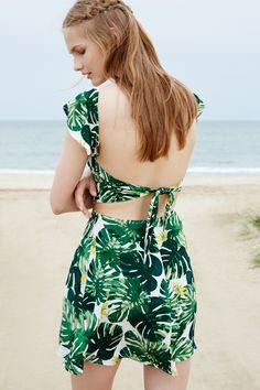 Leaf print # back design ♡