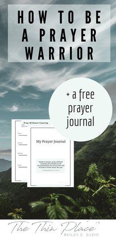 Prayer: A Private Devotion (+A Free Prayer Journal) - The Thin Place #pray #prayer #faith #christian #jesus