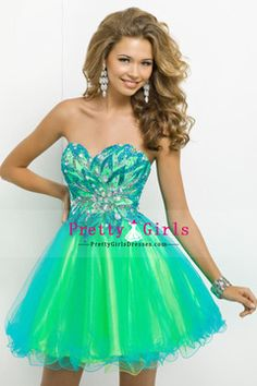 2014 Hot Selling Sweetheart Short/Mini Prom Dress With Beads And Embroidery Tulle