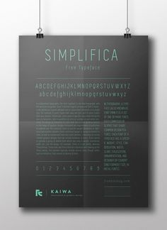 Free Font: SIMPLIFICA
