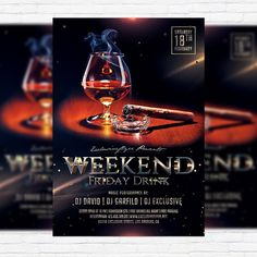 Weekend Friday Drink - Premium Flyer Template + Facebook Cover http://exclusiveflyer.net/product/weekend-friday-drink-premium-flyer-template-facebook-cover-2/