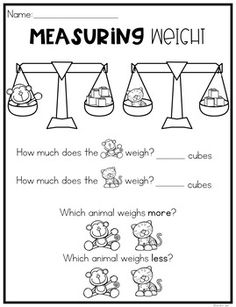 nonstandard measurement worksheets elementary math pesas jardines. Black Bedroom Furniture Sets. Home Design Ideas