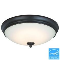 Commercial Electric Oil Rubbed Bronze LED Flush Mount-HUI8011LL/ORB - The Home Depot  BEDROOM LIGHTS