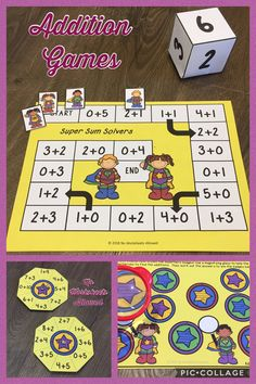 Addition games and activities for Kindergarten/1st Grade.