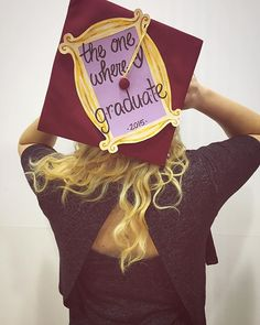 Pin for Later: 61 Creative Ways to Decorate Your Graduation Cap  This grad is clearly a Friends fan.