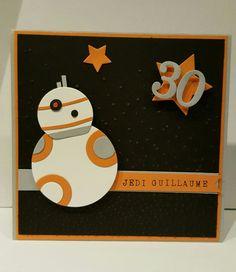 Carte anniversaire Star Wars BB8