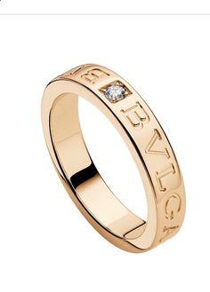 bulgari bulgari 18 kt pink gold and diamond ring