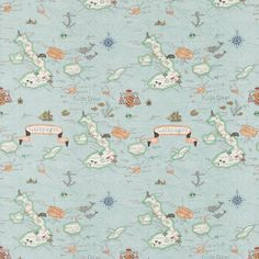 Galapagos Voyage of Discovery fabric and wallpaper Sanderson - Design details