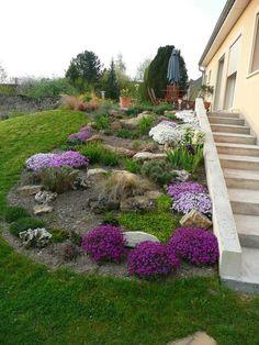 Escalier de jardin en pierre