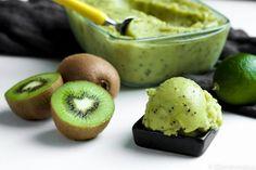Limella maustettu kiivisorbetti / kiwi sorbet