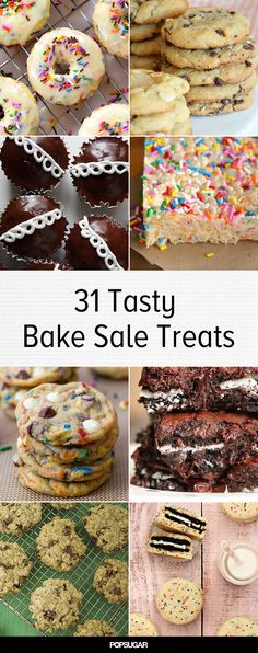 31 Ways to Nail the Next School Bake Sale Bake Sale Cookies, Bake Sale Ideas, Food Sale Ideas, Bake Sale Food, Bake Sale Recipes, Nail, Fundraising Ideas, Diys, Fundraisers